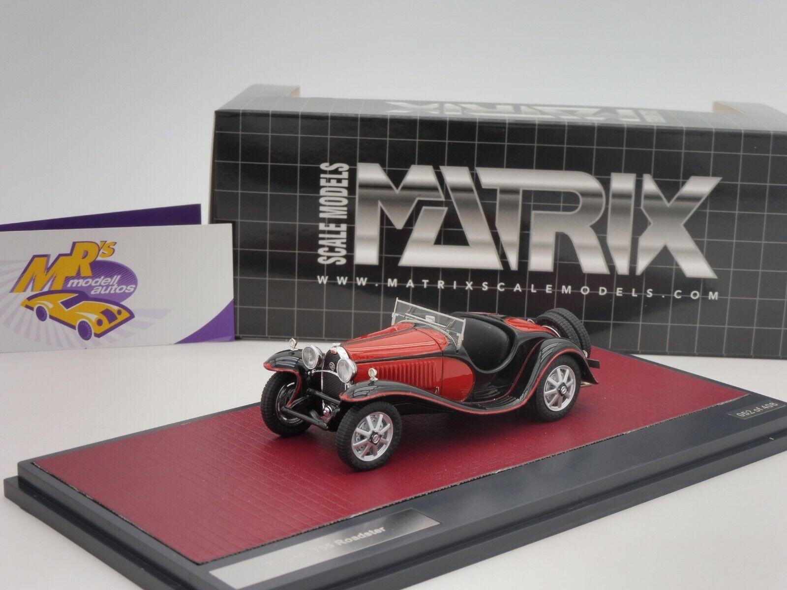 Matrix 40205-072   Bugatti Typ 55 Roadster Baujahr 1932   schwarz-rot   1 43