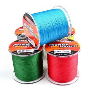 100M Durable PE Braided Fishing Line 4 Strands Super Strong Fishing 6LBS-60LBS
