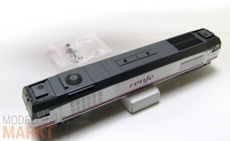 Ersatz-Gehäuse komplett z.B. für ROCO RENFE Diesellok 319.314.1 Spur H0 - NEU