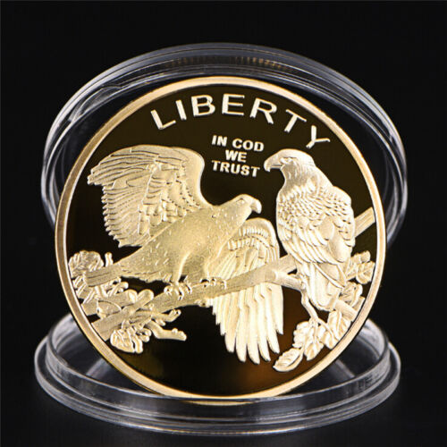 Eagle Gold Plated Coins Liberty Coin Collection Commemorative CoiPDH