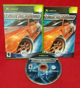 Need-For-Speed-Underground-Racing-Microsoft-XBOX-OG-Rare-Game-Tested-Complete