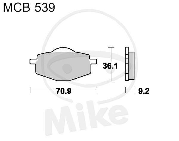TRW Lucas Brake Pads mcb539 Rear SACHS Roadster 650