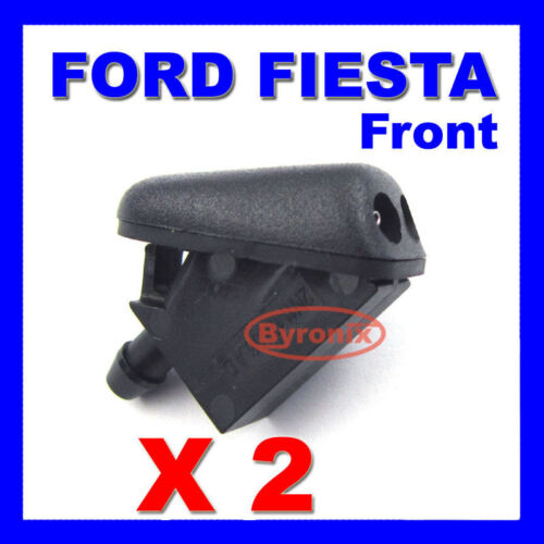 Ford FIESTA DELANTERO PARABRISAS AGUA CHORROS Boquilla de arandela x 2-con sello de goma
