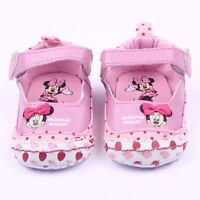 Cute Baby Girl Minnie Mouse Soft Sole Crib Pram Shoes Prewalker Sneaker Trainers