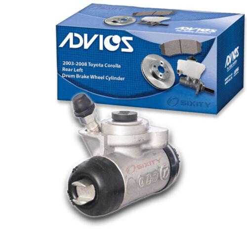 jj ADVICS Rear Left Drum Brake Wheel Cylinder for 2003-2008 Toyota Corolla