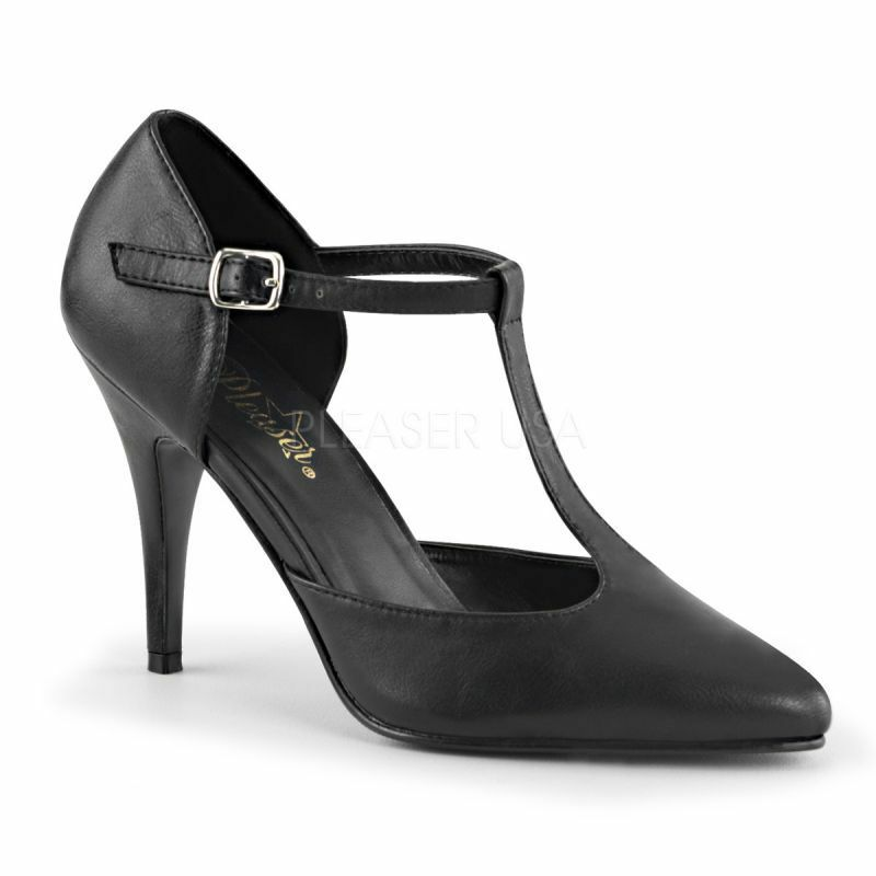 Pleaser Vanity - 415 Escarpins Noir T-Strap soir Chaussure B ¸ RO Fête Danse Sexy