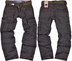 8950ef7f0f Timezone Trousers Benito 9033 Blue Graphite Men's Cargo Pants Cloth ...