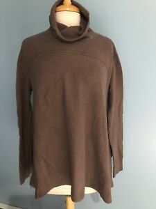 NEW-Free-People-Turtleneck-Swing-Pullover-Sweater-Size-Large-Brown