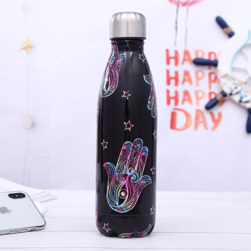 Hot Sale 500ml Water Bottle Vacuum Insulated Flask Thermal Sport Chilly Cold Cup
