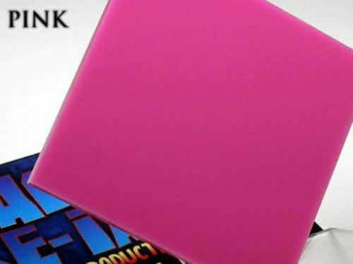 Pink Acrylic Perspex Plastic Plexiglass 210mm x 300mm x 3mm One (1) A4 Sheet