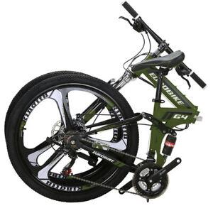 Eurobike 26'' Foldable Mountain Bike Shimano 21Speed 3 Colors