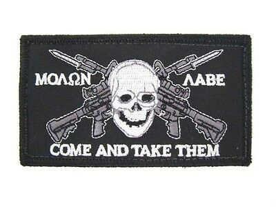 MOAON AABE MOLON LABE COME AND TAKE GET THEM AR-15 M-16 ASSAULT RIFLE PATCH NEW