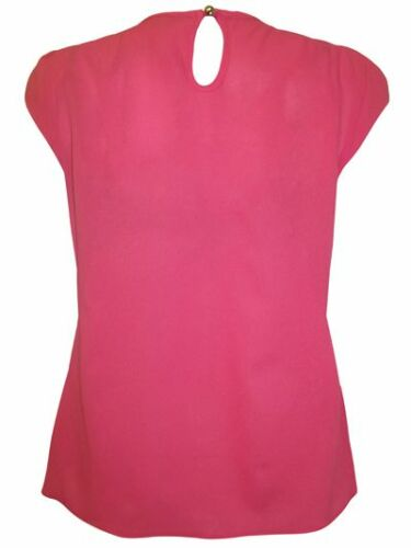 NEW MARINA KANEVA PINK BEADED EMBELLISHED CAP SLEEVE TOP//BLOUSE UK12-20 WEDDINGS