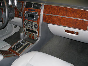 Wood dash trim kit basic kit 58 pcs fits dodge charger - Dodge magnum interior accessories ...