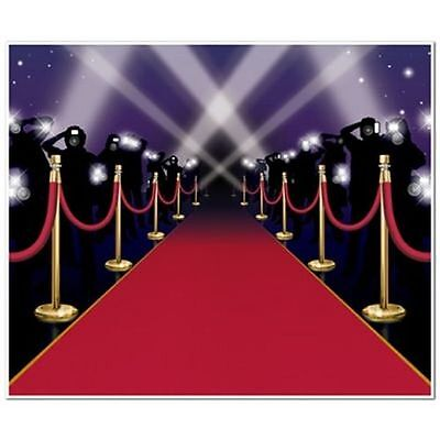 Insta-Mural Red Carpet Wall Decoration - 6ft x 5ft - Hollywood Party Decorations
