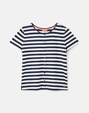 Joules  Marsha Button Through T-Shirt - French Navy Stripe