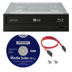 LG WH16NS40K 16X Internal Blu-ray BDXL M-DISC DVD CD Writer Drive w/ 3D Playback