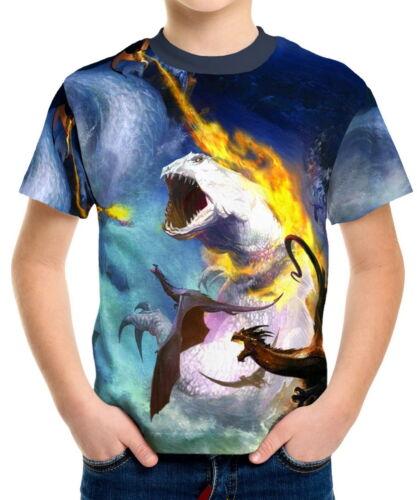 Magical Animal Pegasus Boys Kid Youth T-Shirts Tee Age 3-13 ael40582