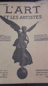 Revista ARTE Y Las Artistas A. Dayot N º 71 6EME Annee Fevr. 1911 París