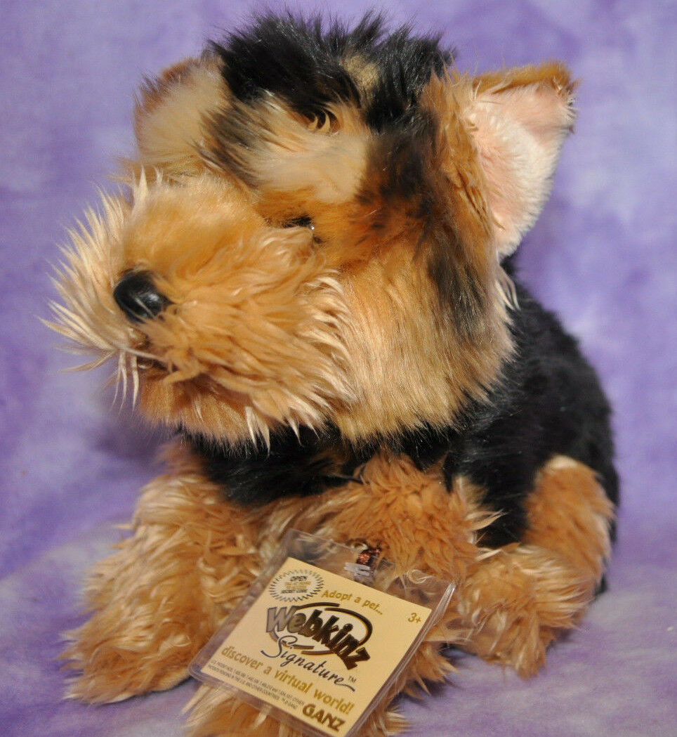 Webkinz Signature RARE SHORT HAIROT YORKIE  Brand New With Tag WKS1014