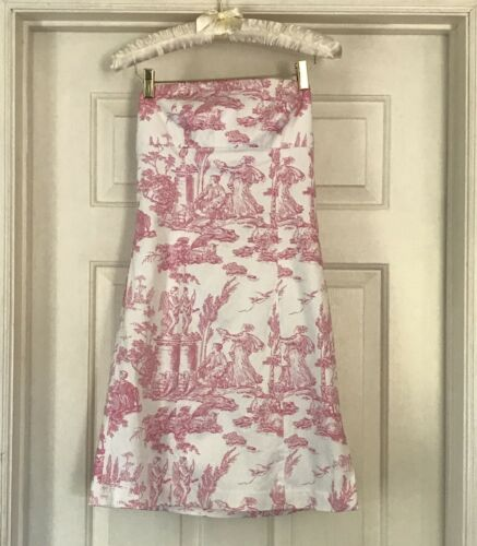 Pink Toile Preppy Dress Sundress 4 Tailor New York
