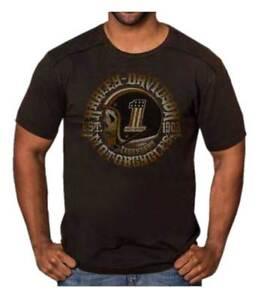 Harley-Davidson-Men-039-s-Hero-Skull-Premium-Short-Sleeve-T-Shirt-Black-Rust-Wash