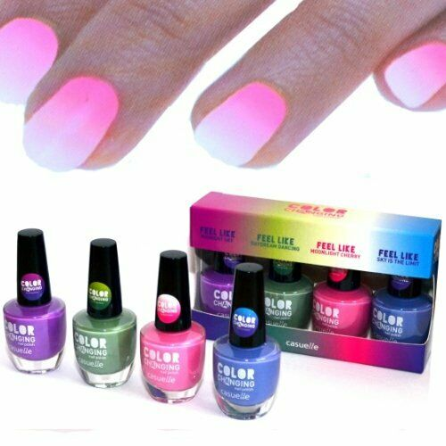 4x farben Thermo Effekt Nagellack Farbwechsel Color Changing Nail Polish WoW!