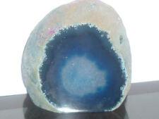 cristalloterapia SEMI GEODE nodulo AGATA BLU fiamma cristallo minerale meridiani