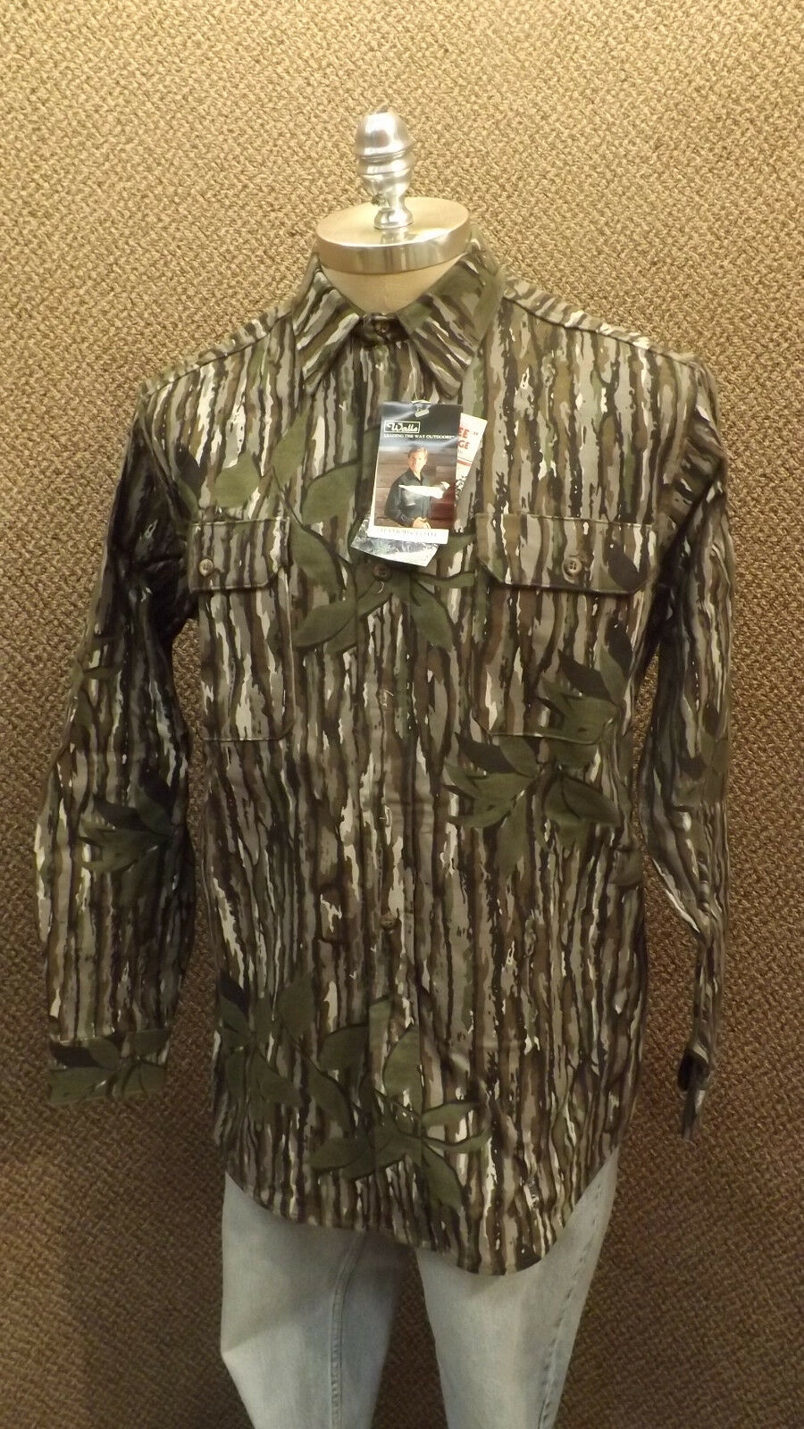Vtg NEW Walls Realtree Camo  Hunting Shirt  Cotton Chamois NOS sz M Tall USA Made  outlet store