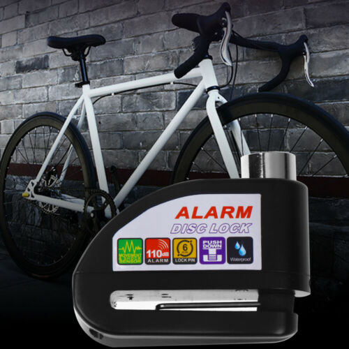 Motorcycle Alarm Lock Stainless Steel Bike Security Anti-theft Disc Brake Lock