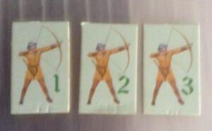 AgréAble Crystal Maze Rechange Attaque De 3 Cartes Archers Chiffres À Droite Mb 1991 Pièces Détachées-afficher Le Titre D'origine