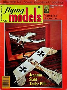Vintage Flying Models Magazine February 1978 Jeannin Stahl Taube 1914 m270