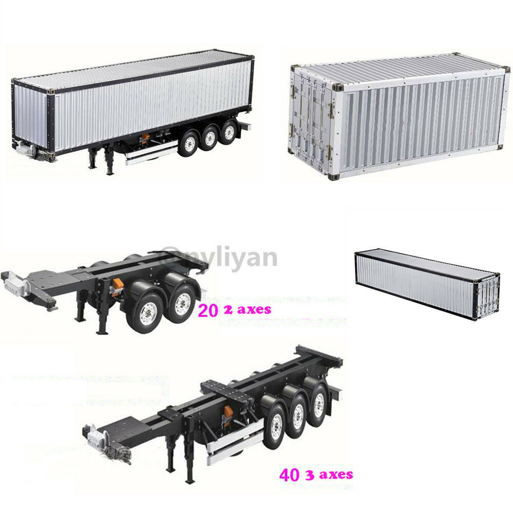 1   14 20ft 40ft alurahmen - container fr rc tamiya scania actros trailer