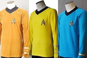 Star-Trek-TOS-Captain-Kirk-Spock-Cosplay-Costume-Outfit-Uniform-3-Colors