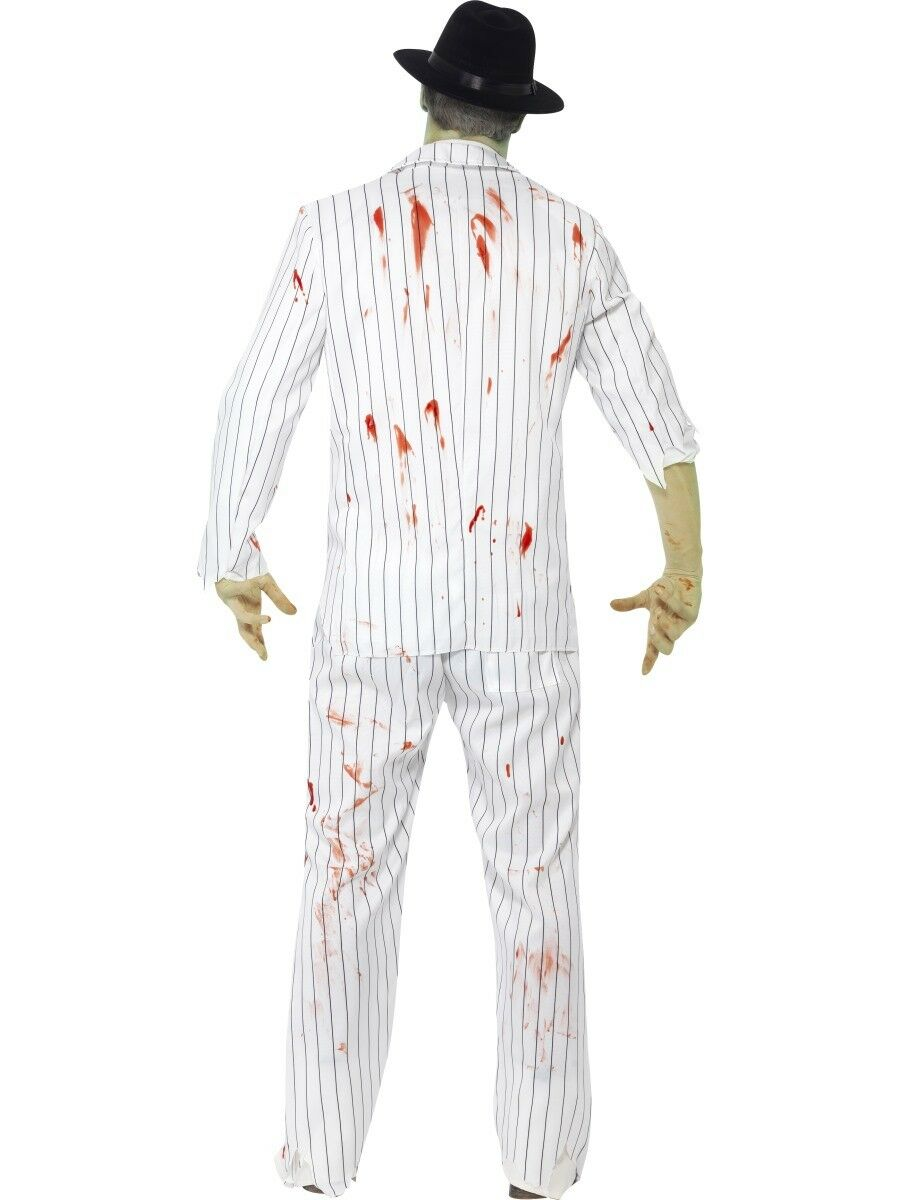 Zombie Gangster Mens Fancy Dress Costume Halloween Mafia Outfit Outfit Outfit M,L | Ästhetisches Aussehen  | Fuxin  066995