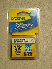 Brother P Touch M Tape 12 Inch Black On White Tape M 231
