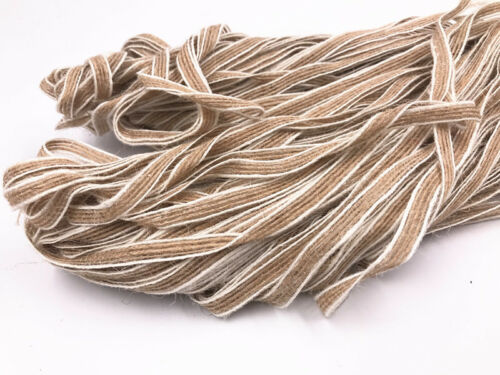Natural primary color Burlap Ribbon Rustic Wedding Floristry Decor 7mm 5//100M