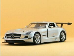 MB Mercedes Benz SLS AMG GT3 - silver - MotorMax 1:24