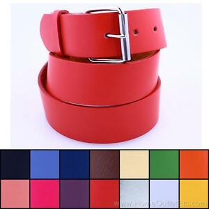Plain-Leather-Belt-Snap-On-Roller-Buckle-Solid-Unisex-Sports-Team-Golf-Baseball