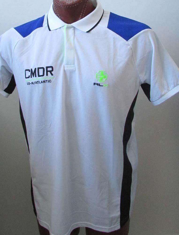NWT Ralph Lauren RLX Athletic Graphic Polo Shirt CMDR US-N Atlantic Sz S