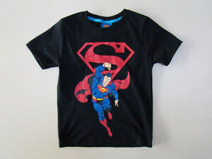 NEW Toddler Boys Superman Hero Cotton Tee Top  Size 3.4.5.6.7  BLACK