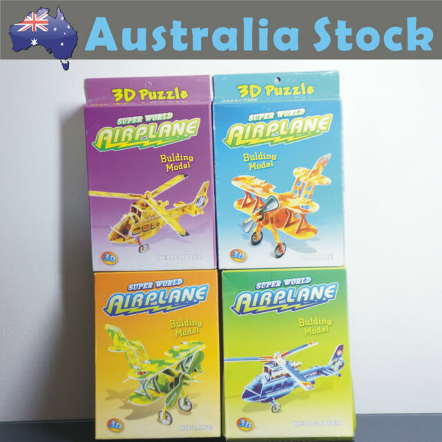 NEW 3D Puzzle 4 Mini Paper Model Biplane Helicopter Pack  Chirstmas Kid Gift Toy