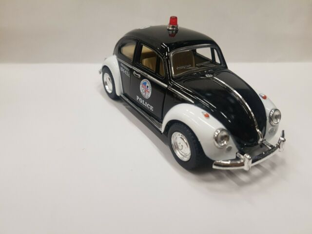 1967 Vw Classical Beetle police kinsmart Toy model car 1//32 scale diecast metal