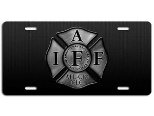 Firefighter Iaff License Plate Maltese Cross Fire
