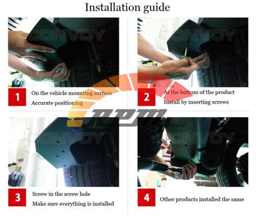 Morris Club Rear Bumper Canard Wing Cup Splitters Body Kit 2PC For Kia Stinger