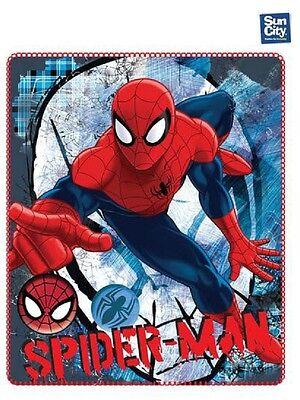 Vast Spiderman Morbidissima Coperta In Pile Plaid Disney 140 X 120cm,bimbo Waterdicht, Schokbestendig En Antimagnetisch