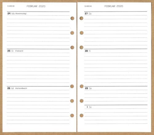 Design Funktional 2020 und 2021 Kalendereinlagen A6//Ferien//Feiert//Übersicht ca