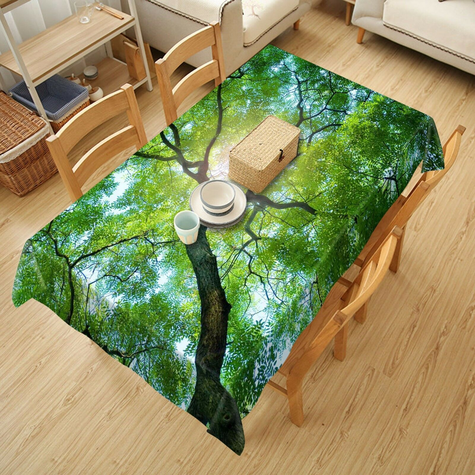 3D Sun tree798 Tablecloth Table Cover Cloth Birthday Party Event AJ WALLPAPER AU