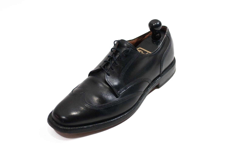 Negro LLANO TOE Allen Allen Allen Edmonds largo Wing zapatos 7160 f7c90e