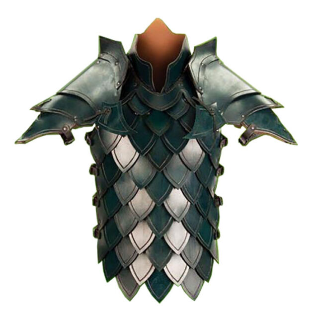 Elven Leather Armor S/M Larp Fantasy Costume Cosplay Dragon Scale Roleplay